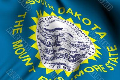 Rendered South Dakota Flag