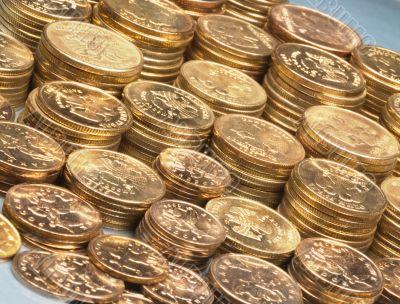 plenty of gold brilliant coins