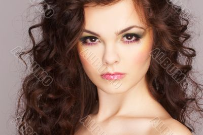 Portrait of sexy woman with beautiful make-up