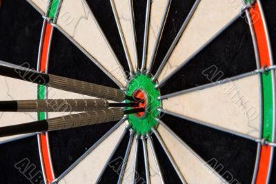 Darts With Three Arrows Into Center