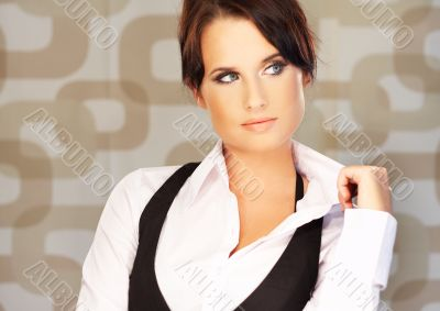 Beautiful brunette business woman