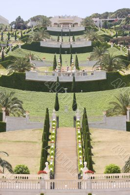 bahai gardens north of Israel