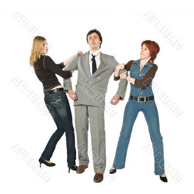 Two women fighting