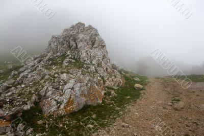 Pass on mountain road