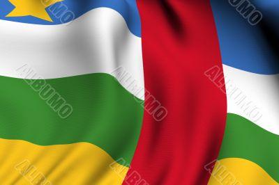 Rendered Central African Flag