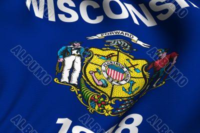 Rendered Wisconsin Flag