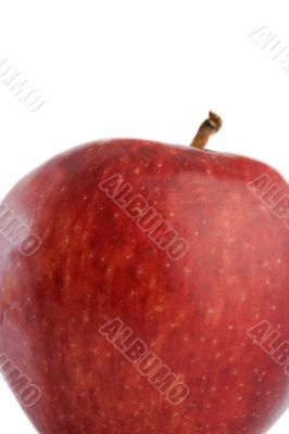 Red delicious apple with reflection