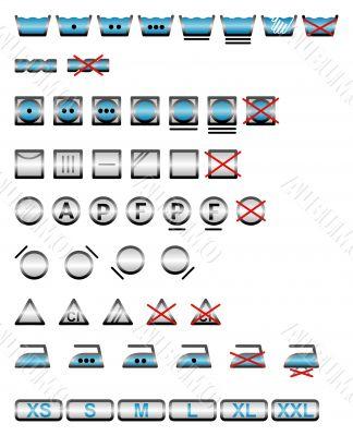 Washing symbols  / vector