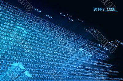 binary code flight