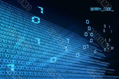 binary code flight from point
