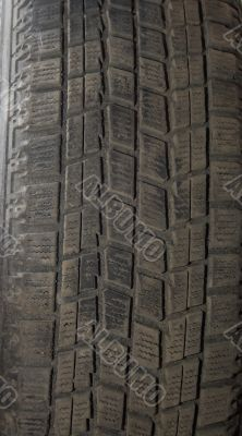 Old automobile tyre