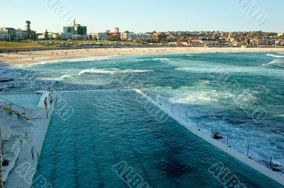 Swimming pool in the ocean