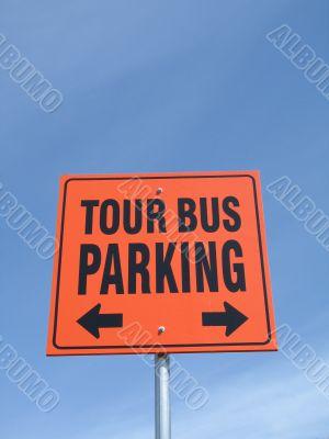 tour bus parking sign