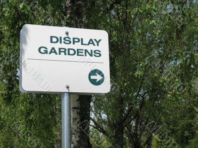 display gardens sign