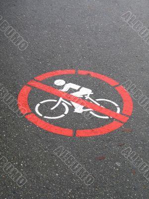 no cycling sign