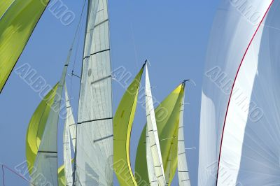 Sailing in Good Wind / sails background