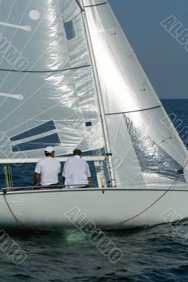 Start of sailing race / Actions of crew