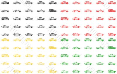 Different variants of the cars