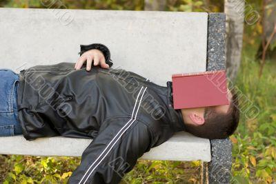 Man Asleep Outside