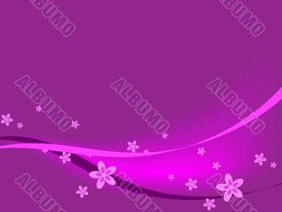 Purple Flowers & Ribbons