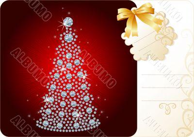 Diamond Christmas Tree / Holiday background