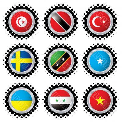halftone flag button 4