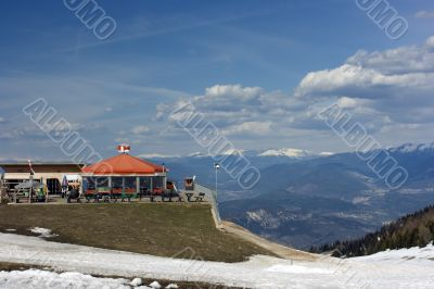 Relax on mountain summit