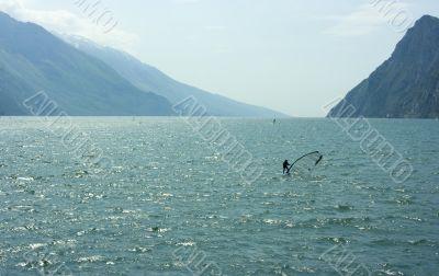 Surf-riding on Garda lake