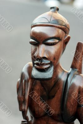 Statue of african hunter