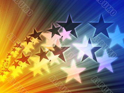 Flying stars illustration