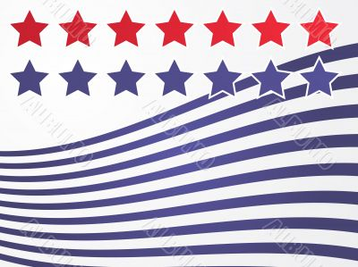 Stars and stripes illustration