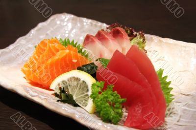 Sashimi arrangement