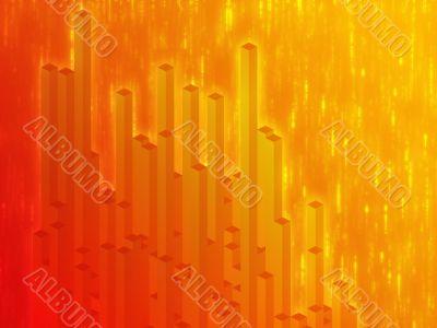 3d columns illustration