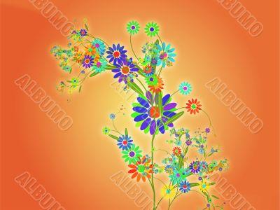Floral nature themed design illustration