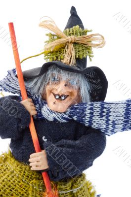 Old Halloween witch isolated