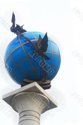 Globe on column