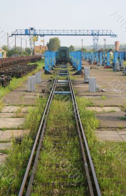 Train repair yard