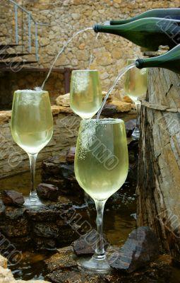 White wine fountain