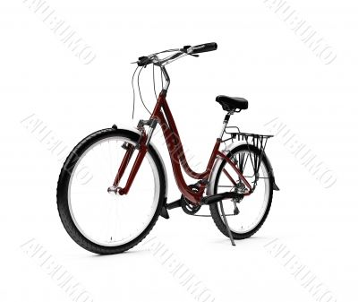 bicycle isolated over white