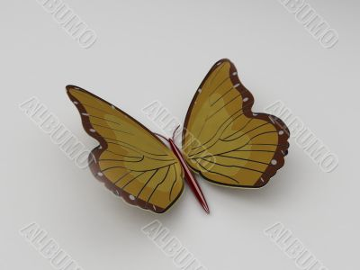 three dimensional magnet butterfly
