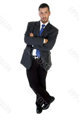 stylish pose of successful businessperson