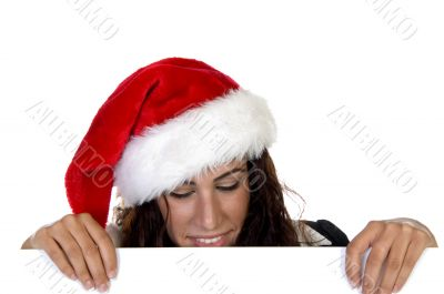 lady in christmas cap