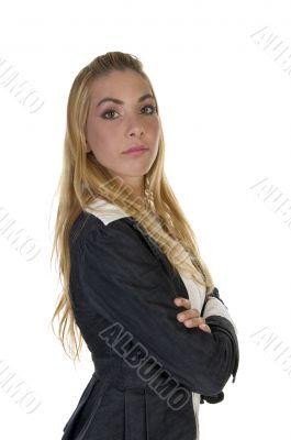 stylish pose of lady