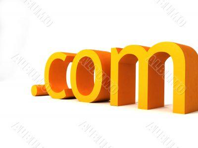 dot com text