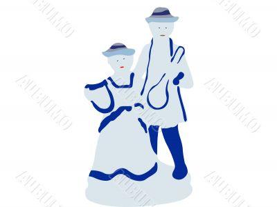 porcelain couple