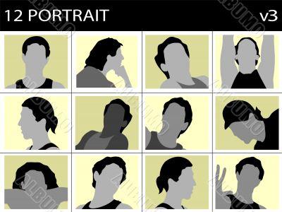 portrait of men`s faces