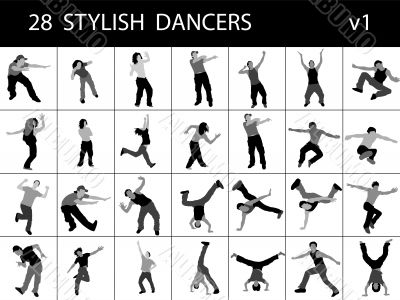 stylish male dancers