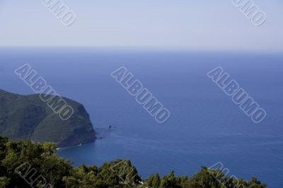 Nice blue lagoon of the mediterrian sea