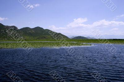 Idyllic panoramic picture of european lake near the mountains