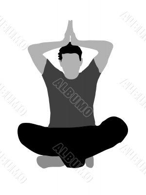meditating pose